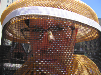 Self-portrait with honeybee